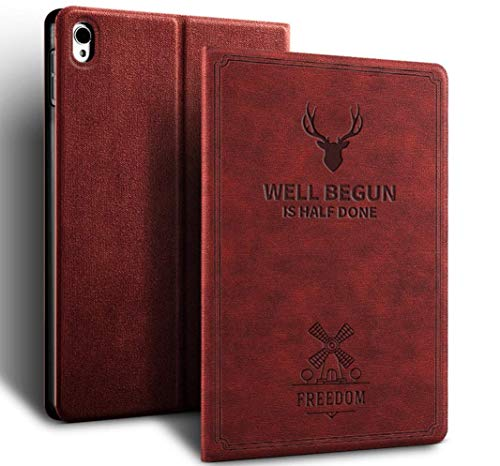 ProElite Smart Deer Flip case Cover for Apple iPad Air 3/ Pro 10.5   Wine Red