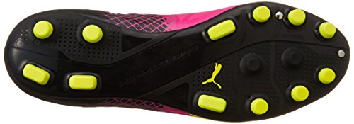 Puma Evospeed 1.5 Tricks Ag, Chaussures de football homme Rose - Pink (pink glo-safety yellow-black 01)