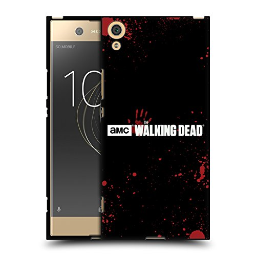Offizielle AMC The Walking Dead Schwarzes Blut Logo Soft Gel Hülle Schwarz für Sony Xperia XA1 Ultra/Dual