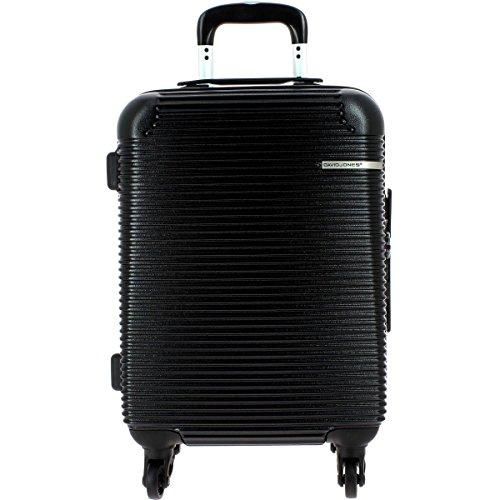 valise-cabine-ryanair-david-jones-55cm-tsa-couleur-black-4-roulettes-34-litres
