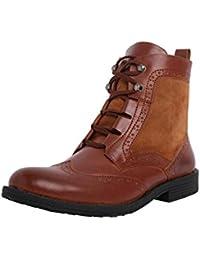 Abof Men Tan Brown Ankle Boots