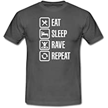 0cee4cded1e3 Spreadshirt Eat Sleep Rave Repeat T-Shirt Homme