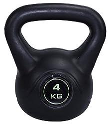 Kettlebell Stylish 4 kg Kugelhantel Hantel Gewicht Handgewicht aus Kunststoff
