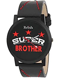 RELISH RE-S8085BB Black Slim Analog Watch For Boys And Mens