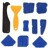 9 Pezzi Silicone Strumento di Sigillante di Finitura,professionale per fughe Kit di spatole Sigillante Tool per Cucina Bagno Piano Sigillante di Tenuta