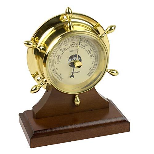 Nauticalia - Barómetro de latón con Pantalla Plana