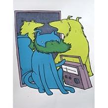 Fake Barba Arte impresión 2009edición limitada seda impresión Protector de impresión de arte Jay Ryan Original firmada y numerada 00s, arte, diseño de pájaros máquina Prints, Complete Edition