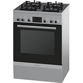 Bosch Serie 6 HGD747355F Autonome Cuisinière à gaz A Acier inoxydable four et cuisinière - Fours et cuisinières (Cuisinière, Acier inoxydable, Rotatif, Devant, 1,2 m, CE)