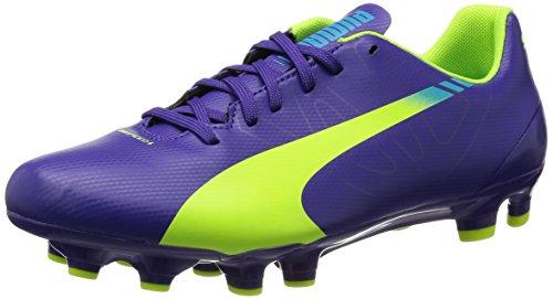 Puma - evoSPEED 5.3 FG Jr, Scarpe Da Calcio per bambini Viola (Violett (prism violet-fluro yellow-scuba blue 01))