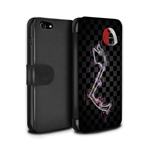 Stuff4 Coque/Etui/Housse Cuir PU Case/Cover pour Apple iPhone 8 / Singapour Design / 2014 F1 Piste Collection Monaco/Monte Carlo