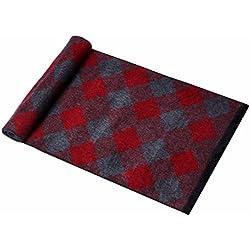 MZMZ ULTRA apretado el cuello BMBAI cálido-hombres cordero pashmina tartán escocés pañuelo multicolor, Rojo