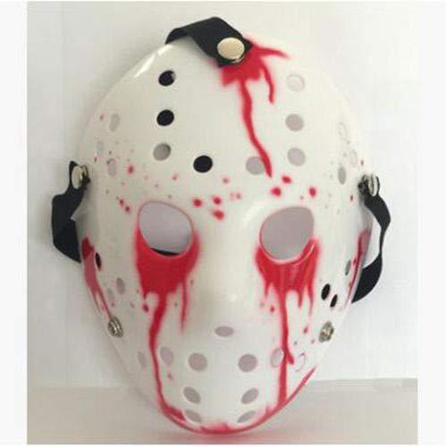 Dodom New Jason vs Freitag der 13. Horror Hockey Cosplay Kostüm Halloween Killer Maskerade Maske Halloween Maske, Bildfarbe (Freitag Vs Halloween Der 13)