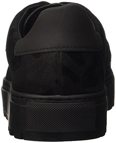 Bikkembergs Track-Er 824 Low Shoe M Suede, Baskets Hautes Homme Noir - Nero (Camouflage Black)
