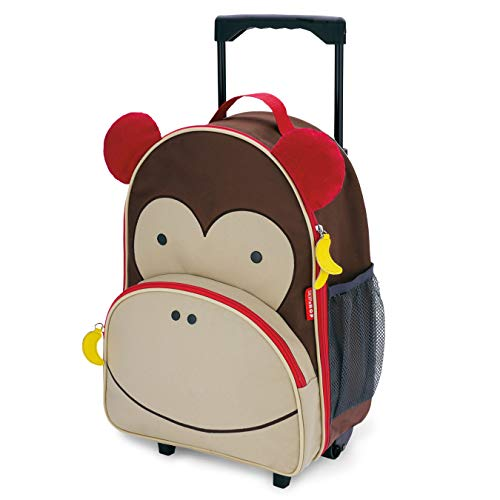 Skip Hop, Valigia con ruote, design zoo marrone Monkey