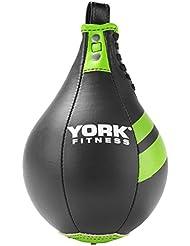 York Fitness Poire de vitesse Noir/vert 23 cm