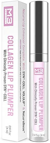 M3 Naturals Collagen Lip Plumper Clinically Proven Natural Lip Enhancer for Fuller Softer Lips Increased Elast