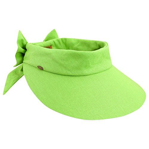 scala-femme-bonnet-chapeau-anti-uv-upf-50-vert-citron-vert-taille-unique