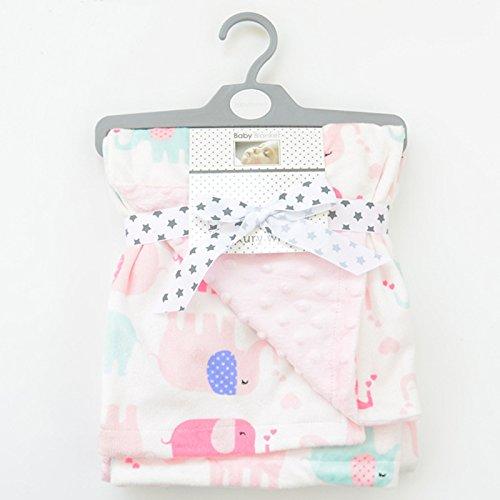 Baby manta Elefantes Rosa Blanco cochecito bebé cama Regalo nacimiento
