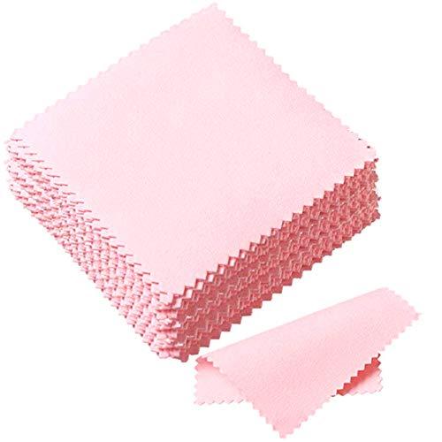 Pink Poliertuch für Sterling Silber, Gold, Messingkupfer-Schmuck (Set 50)