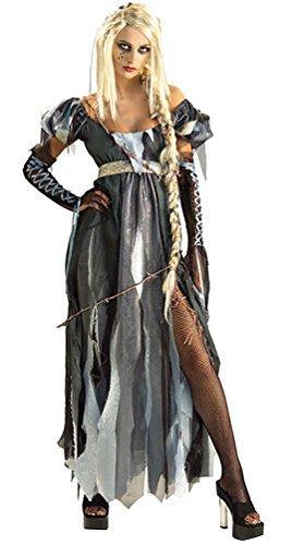 (Karneval-Klamotten Zombie Damen-Kostüm Zombie Braut Geisterbraut R.I.P. Unzel Kostüm Größe 36/40)