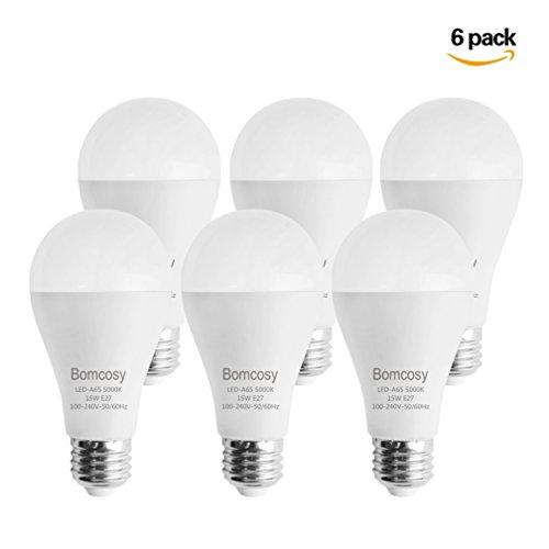 Bomcosy Lampadina LED A65, Attacco E27, 15W equivalente a 100W,