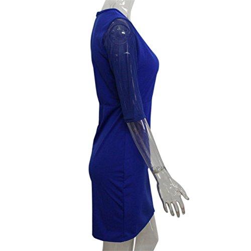 Moda Donna Bodycon Abito Donna Club Partito Mini Abito Prospettiva Abito Prospettiva Senza Maniche Estate Primavera Prom Costume Mode Elegante Pizzo Chiffon Poliestere Cotone Blu