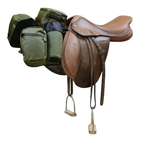trailMAX Satteltasche Englisch, Front Pocket Packtasche grün