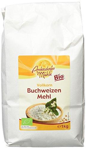 Antersdorfer Mühle Vollkorn Buchweizenmehl, 2er Pack (2 x 1 kg) (Bio-gerste Lebensmittel,)