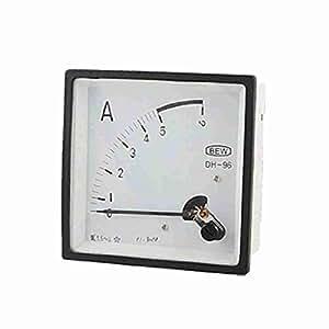 TTcity DH-96 AC 0-5A Platz analogen Stromsteuerung Amperemeter-Lehre
