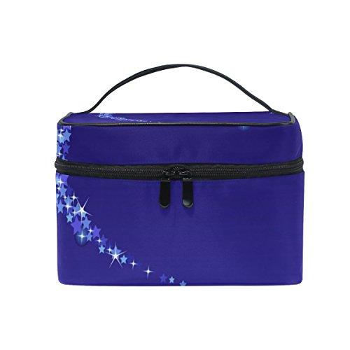 Isaoa multifunzionale make up bag Stardust trousse da viaggio cosmetici caso di trucco bagagli borse lavare spazzola della borsa da viaggio portatile sacchetto per donne ragazze