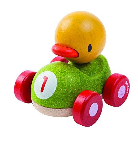 Plan Toys - Pato el Piloto, coche de juguete (5678)
