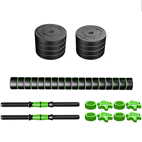 WSC Gummi-Hanteln, Herren-Fitnessheim, Rutschfester Griff, leicht zu tragen 22 Pfund 33 Pfund 44 Pfund Set (Größe : 10KG) (Hanteln 10 Set Pfund)