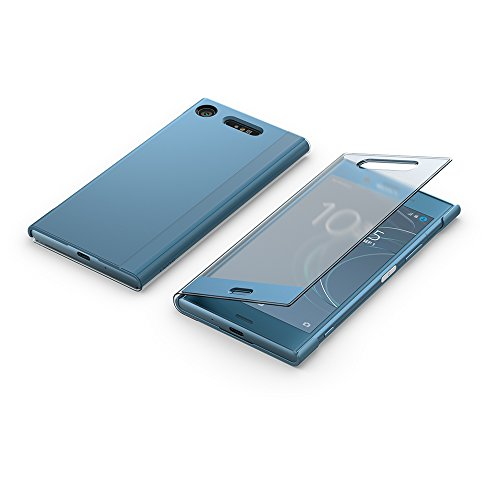 "Sony \""Style Cover Touch SCTG50 Bookcover mit transparentem Displayschutz für Xperia XZ1, Blau"