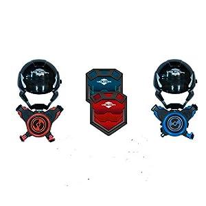 Juguetrónica- Juego Laser Warriors, Color Rojo/Azul (JUG0329)