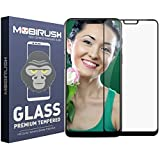 ZIVITE MOBIRUSH Gorilla Edge Gum 5D Full Screen Cover with Anti Fingerprint Tempered Glass Guard for Mi Poco F1 (Black) -Pack of 2