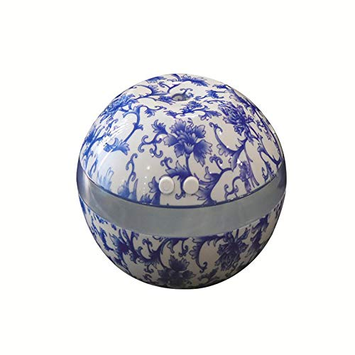 CamKpell Porcelana Azul y Blanca Humidificador ultrasónico Humidificador de Aire Aroma Aceite Esencial difusor Aromaterapia para la Oficina en casa SPA