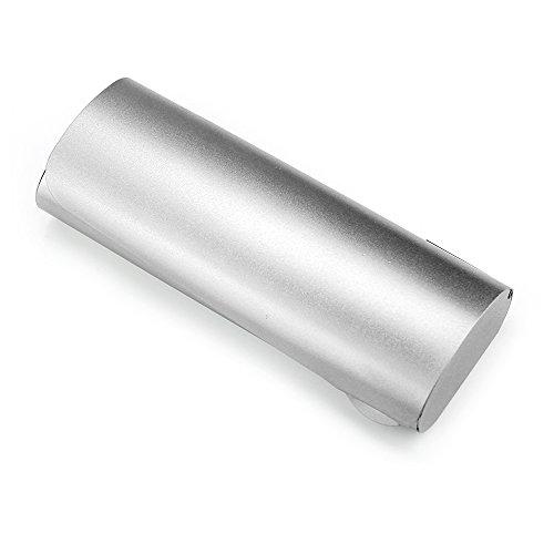 Ezeso Brillenetui Noten Hardcase Aluminium Damen Herren Für kleine Brillen, silber