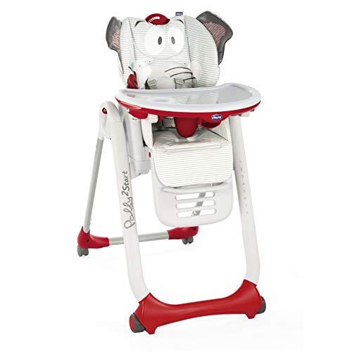 Chicco Polly 2 Start Trona y hamaca transformable y compacta, con 4 ruedas y freno, de 0 a 3 años...