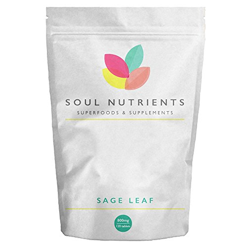 Sage Leaf Tablets 1600mg High Strength Tablets Popular Supplement for Menopausal Symptoms Reduce Hot Flushes and Night Sweats - Herbal HRT