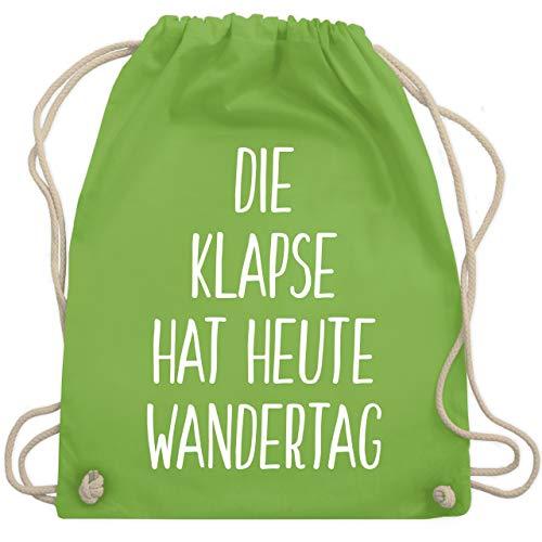 Festival Turnbeutel - Die Klapse hat heute Wandertag - Unisize - Hellgrün - WM110 - Turnbeutel & Gym Bag