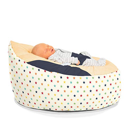 Personalisierbarer Sitzsack für Babys, Motiv: Regenbogensterne
