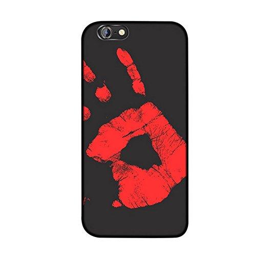 MIMINUO Copertura del telefono Cassa morbida di TPU del sensore termico di cambiamento di colore magico di caso di iPhone 6 Plus/6S Plus black IPcase