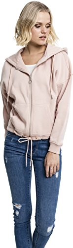Urban Classics Ladies Kimono Zip Hoody, Sweat-Shirt à Capuche Femme Rosa (Light Rose 838)