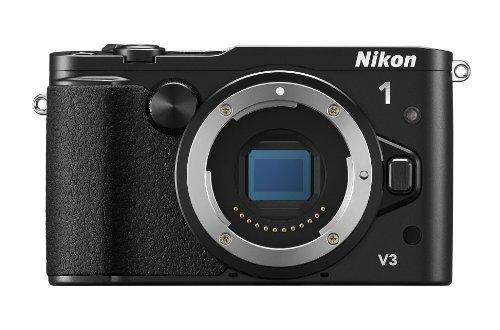 Nikon 1 V3 Systemkamera (18 Megapixel, 7,5 cm (3 Zoll) TFT-Display, Eletronischer Bildstabilisator, Full-HD-Videofunktion, WiFi, microSD-Speicherkarten-Steckplatz, USB, HDMI) nur Gehäuse schwarz