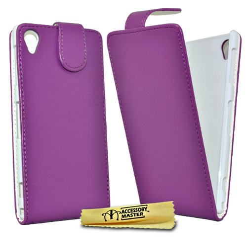 Accessory Master Leder-Schutzhülle für Sony Xperia Z1 L39h / C6903, Violett
