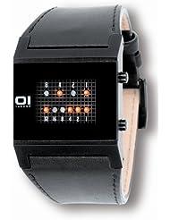 Binary THE ONE KERALA TRANCE KT202R1 - Reloj digital de caballero de cuarzo con correa de piel negra - sumergible a 30 metros