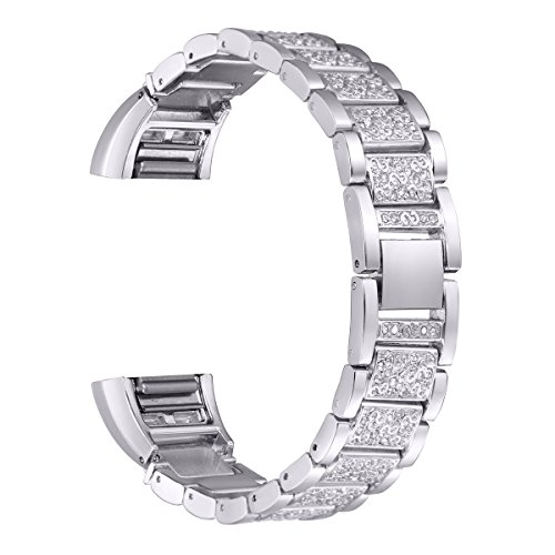 for-fitbit-charge-2-bayite-replacement-metal-straps-with-rhinestone-silver