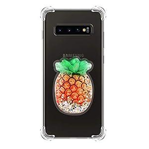 Jorisa Glitzer Hülle Kompatibel mit Samsung Galaxy S10,Bling Funkeln Treibsand Stern Klar Weich Silikon Handyhülle…