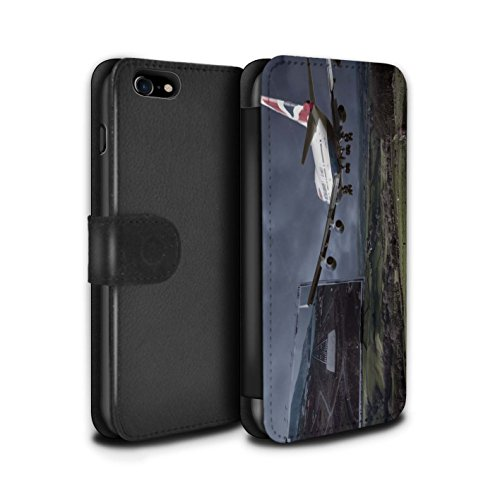 Stuff4 Coque/Etui/Housse Cuir PU Case/Cover pour Apple iPhone 8 / Pack 29pcs Design / Imaginer Collection Atterrissage Brutal