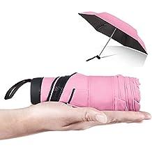 MOLPE Paraguas Plegable de Viaje Compacto Ultraligero Mini Paraguas Prueba de Viento Doble-Uso Paraguas